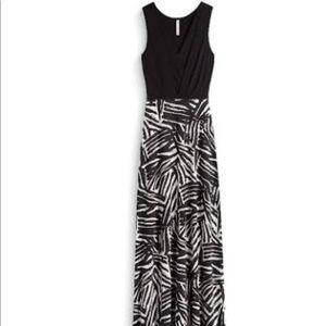 Gilli black knit maxi dress
